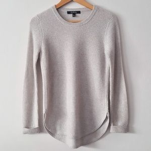 SAKS FIFTH AVE. 100% Cashmere Oatmeal Soft Sweater